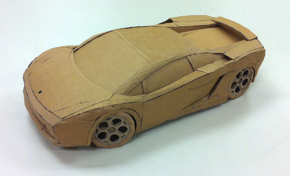 The Cardboard Lamborghini.