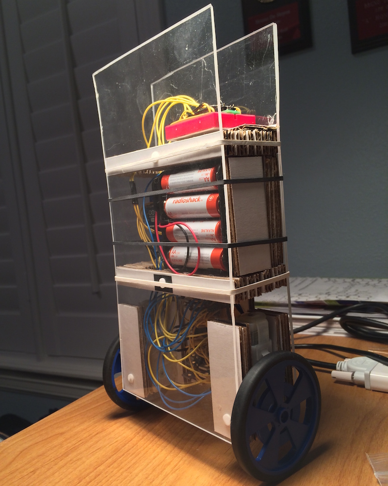 Side-view of finalized robot