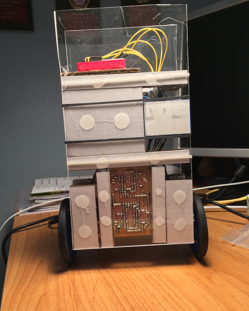 Back-view of finalized robot